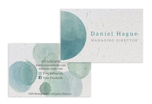 Business Cards - Teal Watercolour