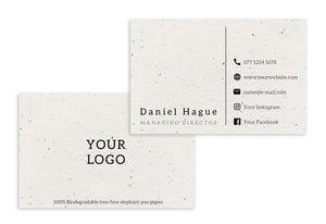 Business Cards - Your Logo (Economy)