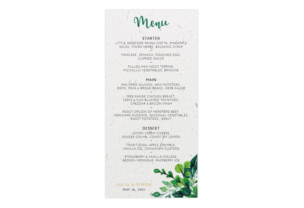Menu - FOLIAGE RING