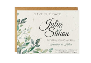 Save the Date - GREENERY