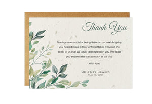 Thank You Cards - GREENERY