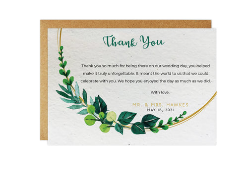 Thank You Cards - FOLIAGE RING