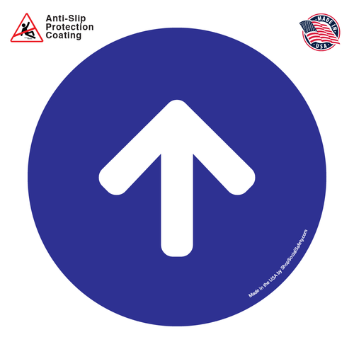 Direction Arrow - Blue Background With White Arrow