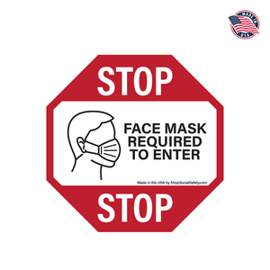 Face Mask Required - Door Decal
