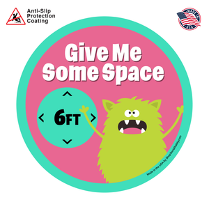 Space Monster Social Distancing Floor Decal
