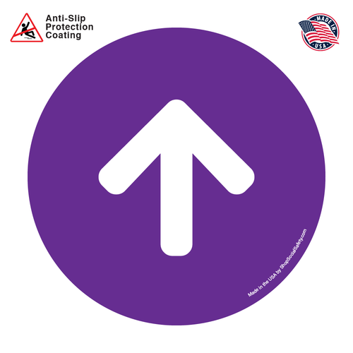 Direction Arrow - Purple Background With White Arrow