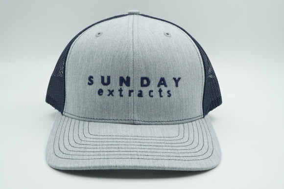 Trucker Heather Gray + Navy Sunday Extracts