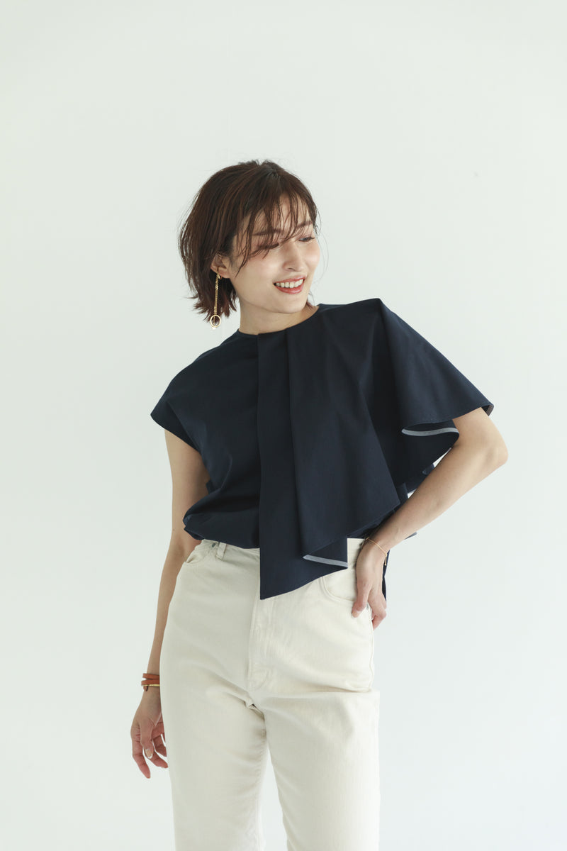 un number「frilled lizard」アシンメトリーブラウス
