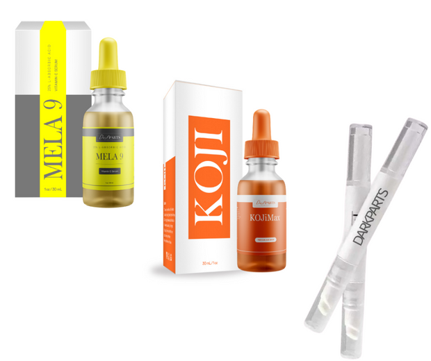 Melanin 25% Vit.C  plus KOJi Max Kojic Acid (Day and Night Serum), KOJi Max Kojic Acid Corrector Pen