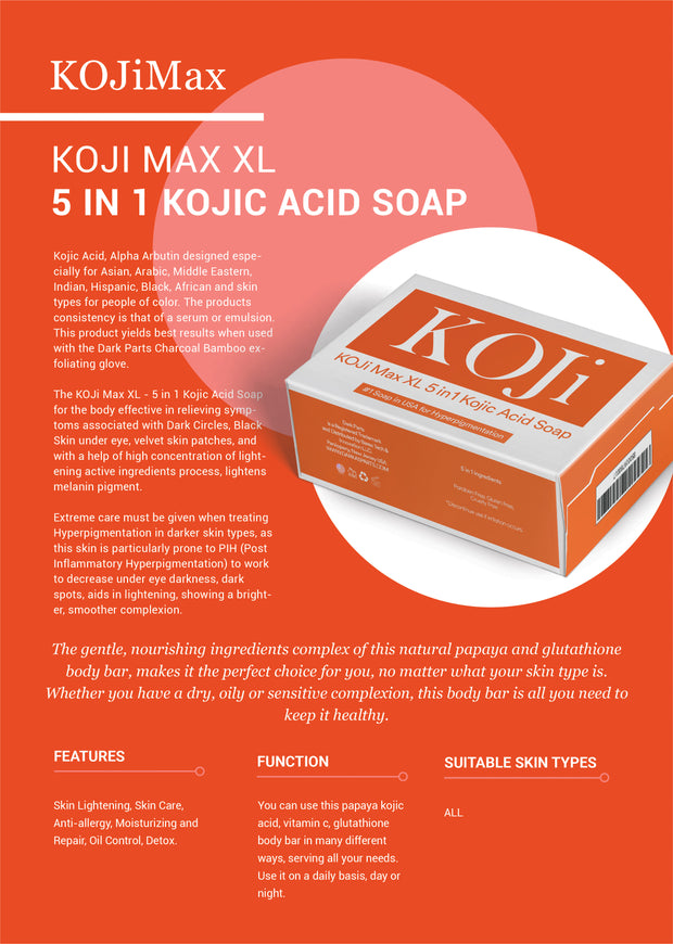 KOJi Max XL - 5 in 1 Kojic Acid Soap
