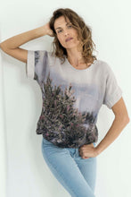 Load image into Gallery viewer, ALPINE WILD FLOWERS LINEN TSHIRT