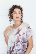 Load image into Gallery viewer, APPLE BLOSSOM LINEN TSHIRT