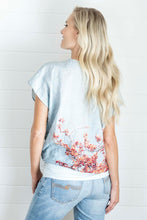 Load image into Gallery viewer, BLOSSOM LOVE LINEN WRAP TOP