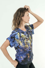 Load image into Gallery viewer, ELECTRIC REFLECTIONS LINEN TSHIRT