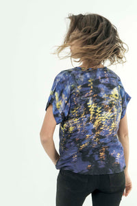ELECTRIC REFLECTIONS LINEN TSHIRT