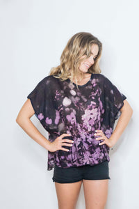FLOWER FEILDS LINEN TOP