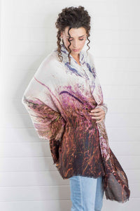 FLOWERING GRASSES  CASHMERE & MODAL SCARF