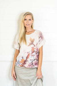 APPLE BLOSSOM LINEN TSHIRT