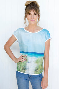 BAY OF FIRES  SILK COTTON TSHIRT