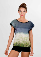 Load image into Gallery viewer, MORNING GRASSES SILK COTTON TSHIRT