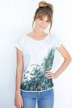 Load image into Gallery viewer, GUM LEAVES  SILK COTTON TSHIRT
