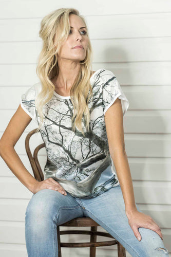 GHOST TREE SILK COTTON TSHIRT