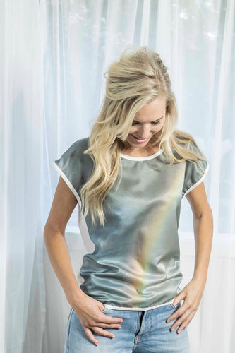 RAINBOW SILK COTTON TSHIRT