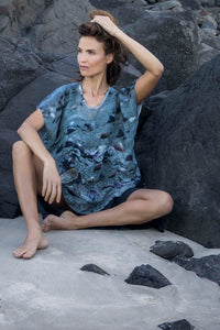 SEA SHELLS LINEN TOP