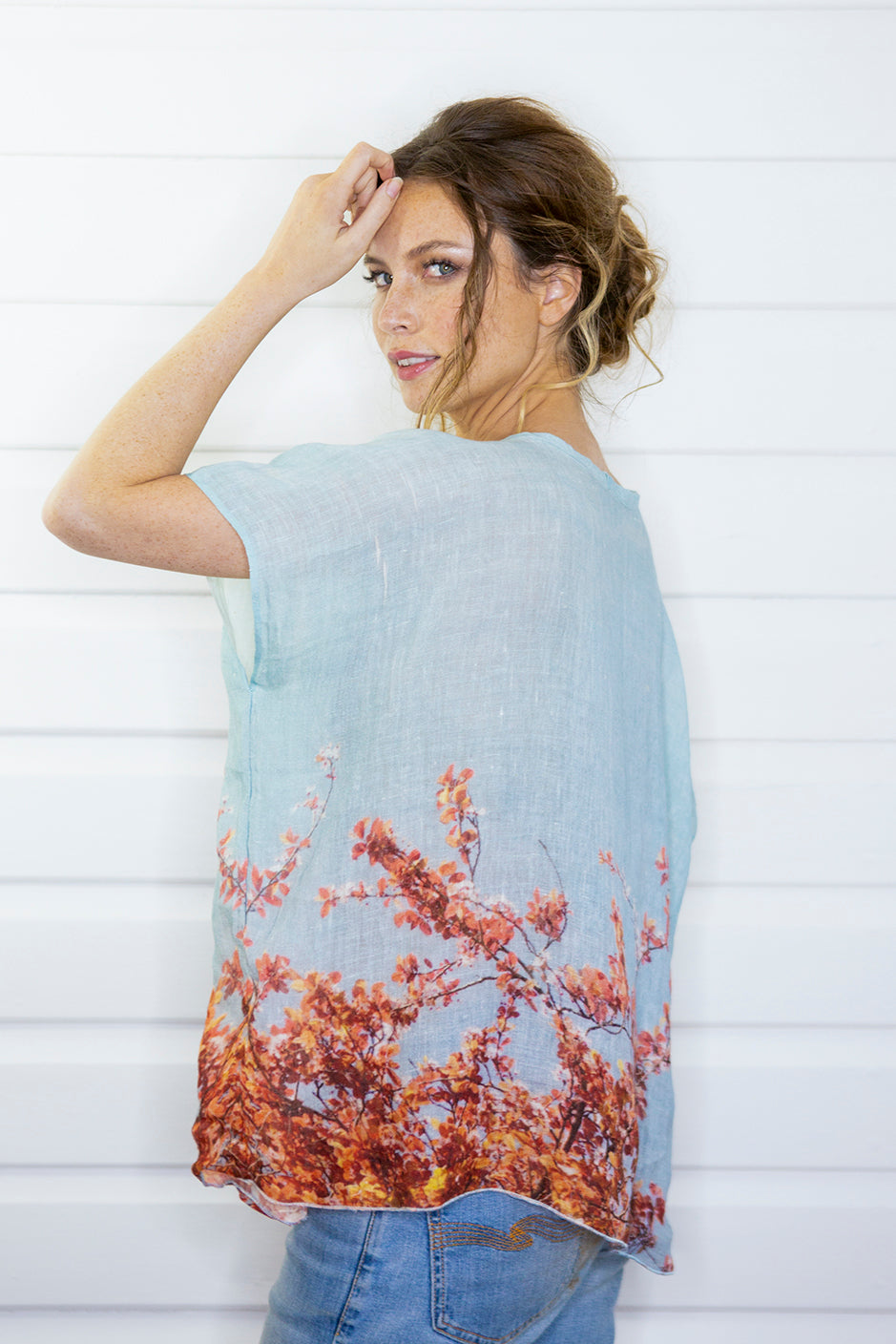 BLOSSOM LOVE LINEN TOP