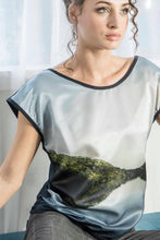 Load image into Gallery viewer, TARKINE TASMANIA SILK COTTON TSHIRT
