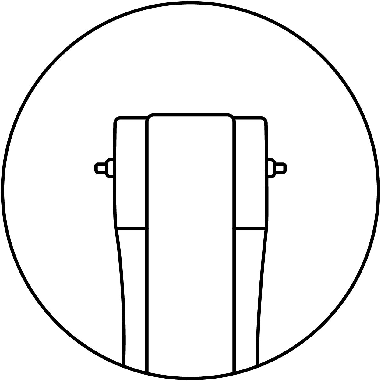 shape of the rubber strap adapted to the watch
