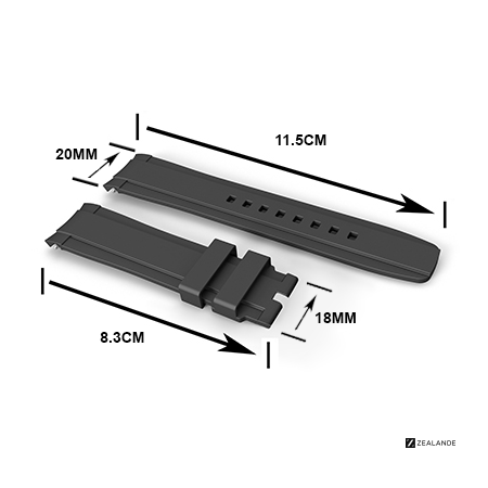ZBC01 strap Dimensions for Rolex® DateJust 36mm