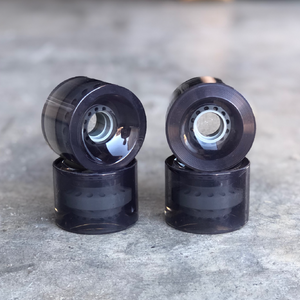 Blank Longboard Wheels Clear Black