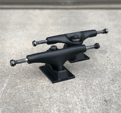 Blank Skateboard Trucks Matte Black 5.25