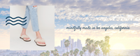 Mindfully made in Los Angeles, California, Mia is a genuine shearling women's thong slipper