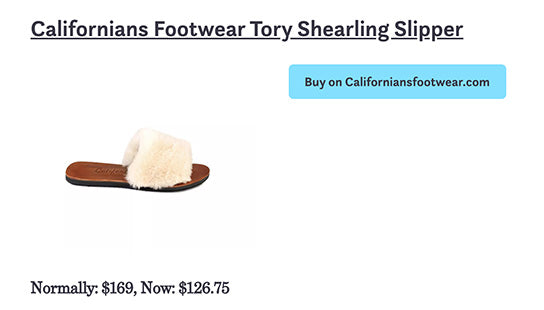 Tory Shearling Slippers