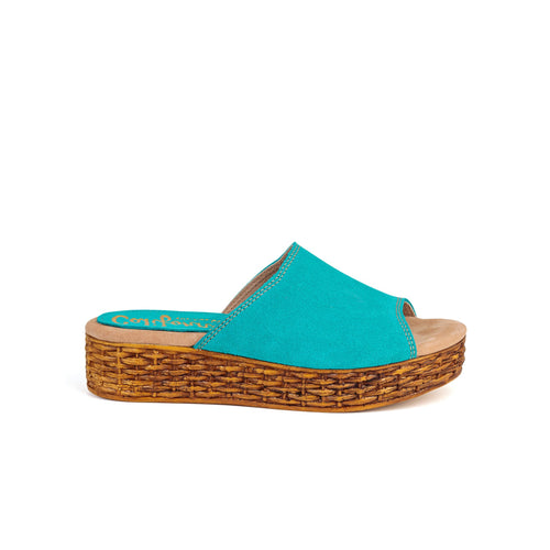 Margot | Turquoise Suede