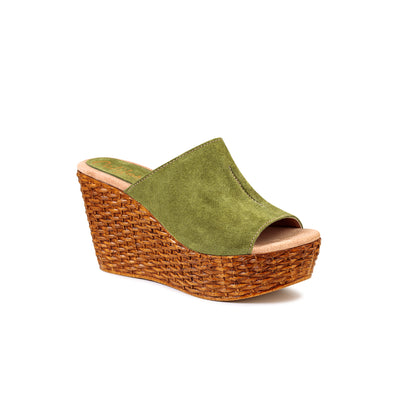 Martha | Olive Suede