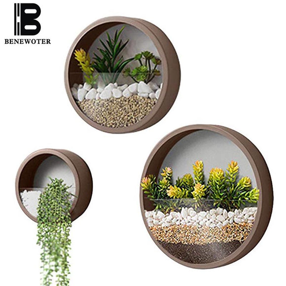 1pc Hanging Flower Planter Creative Iron Planter Plant Container for Living Room