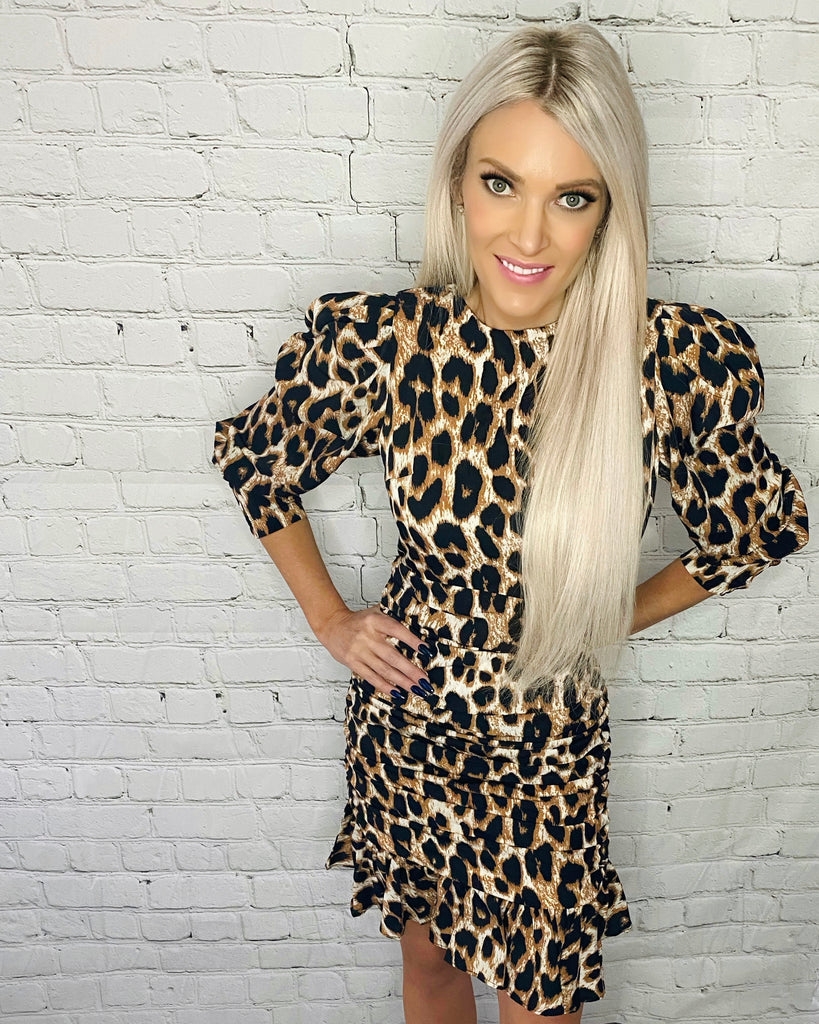 Josie Leopard Dress