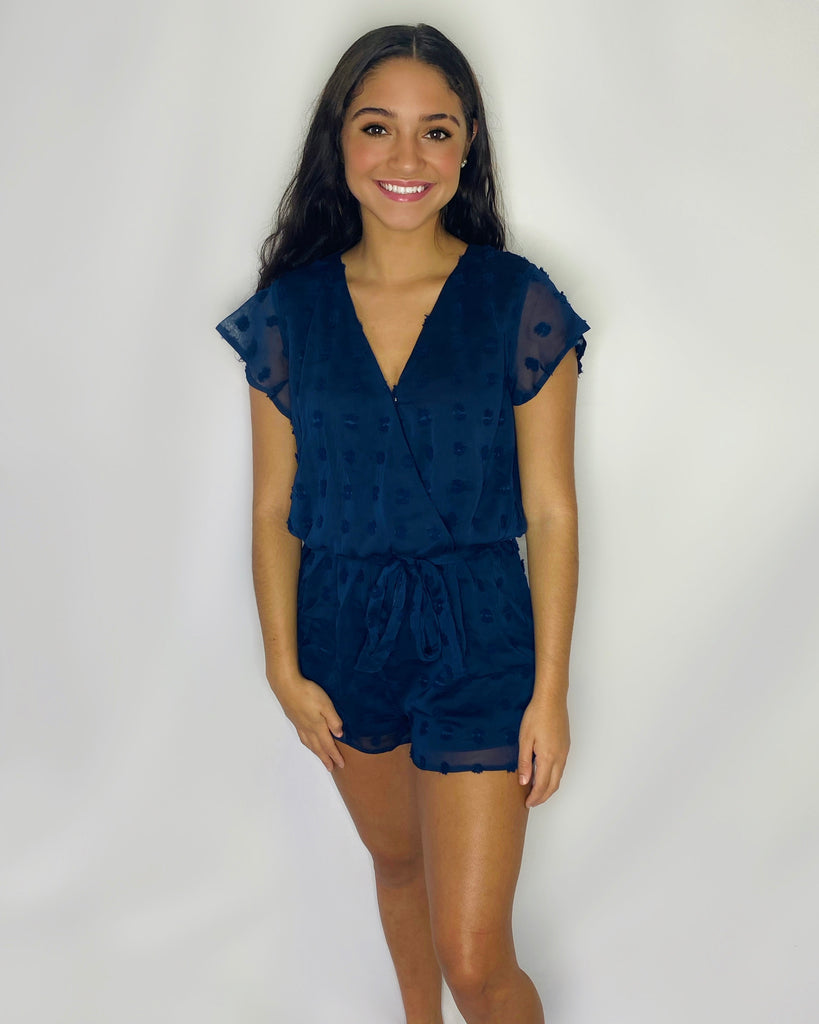In the Navy Romper