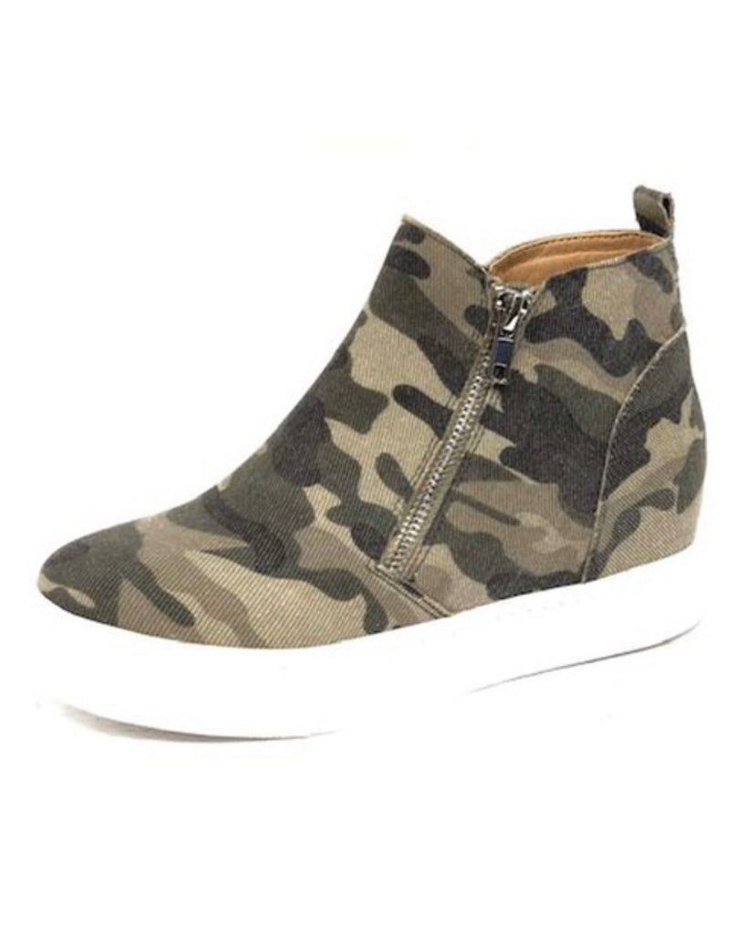Taylor Camo Wedge Sneakers