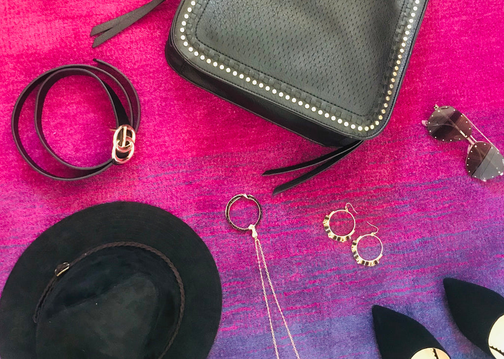 Winter Purse and Earrings $35
