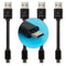 "CableLinx 4"" Value Pack of 4 Micro to USB-A Charge Flat Cables"