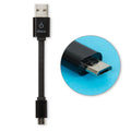 CableLinx 4″ Micro to USB-A Charge Flat Cable