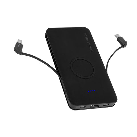 ChargeHubGO+ Power Bank with Wireless Charging Pad