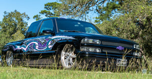 "Lily's Chevy Extended cab on 24"" US Mags with Custom Paint by Madd Concepts"
