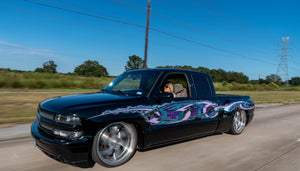 """Lily"" Building Her First Bagged Chevy Truck Into A Full Custom, Rolling Work Of Art"