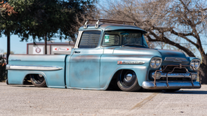 "Mark ""TheLowLifeCo"" and his Custom Chevy Apache pickup"
