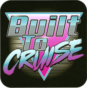 Built To Cruise Retro Logo Decal